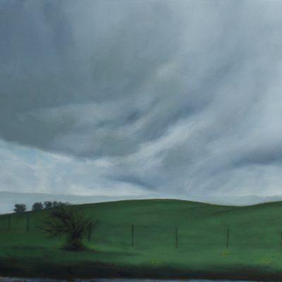 """Los Altos Field, Oil on Canvas, 24x36"""", 2014 ($300)"""
