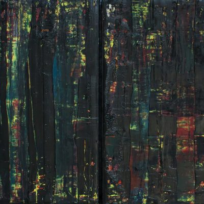 """Diptych Abstract Build, Each 18x24"""", Oil on Canvas, 2014 ($300 for both)"""