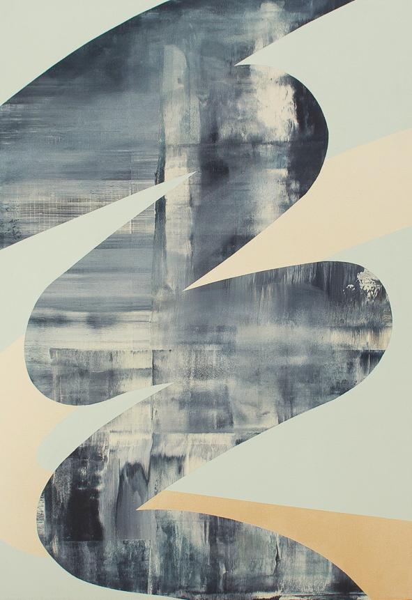 Squiggle 2, Acrylic on canvas, 28x40