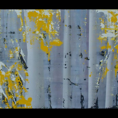 "Aspens, 2014, Oil on Canvas, 30x52"" - SOLD"