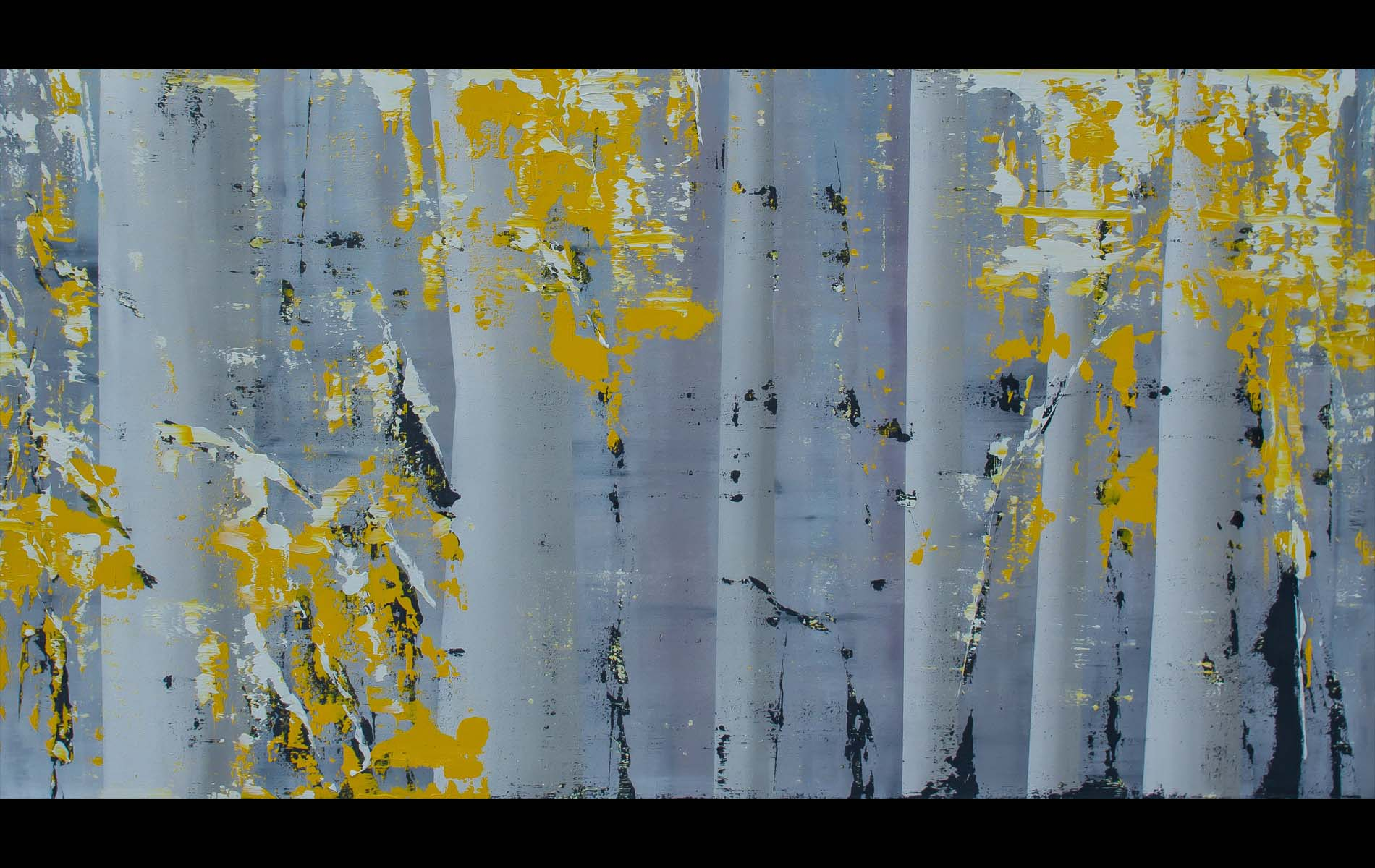 Aspens, 2014, Oil on Canvas, 30x52
