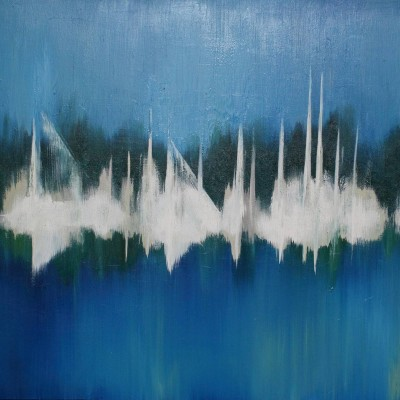 Sailboats, 2011, Oil on Canvas, 36 x 48  - SOLD